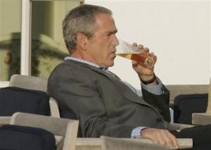 bush drinking 300x213