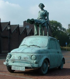 lady on a fiat netherlands 266x300