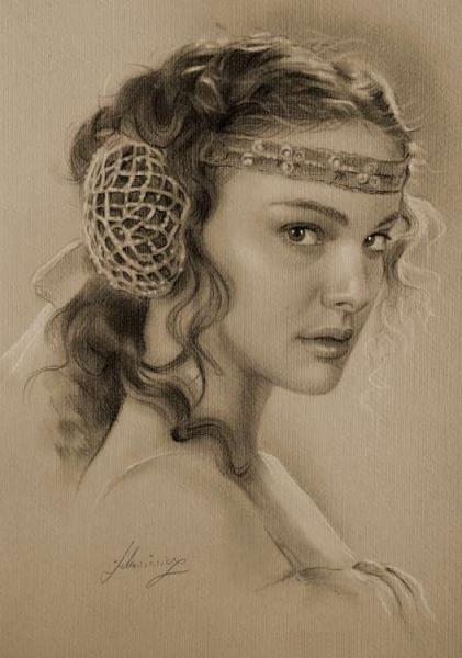 actress pencil drawings 2