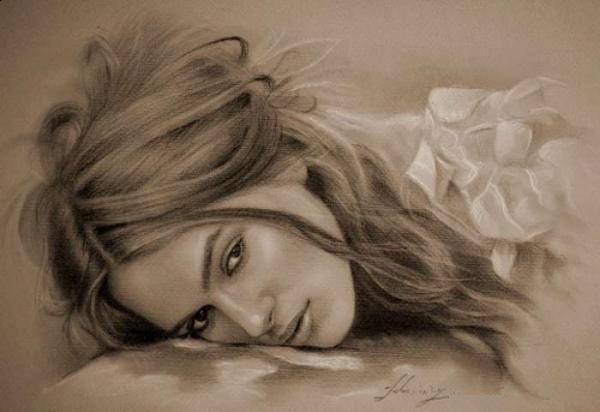 actress pencil drawings