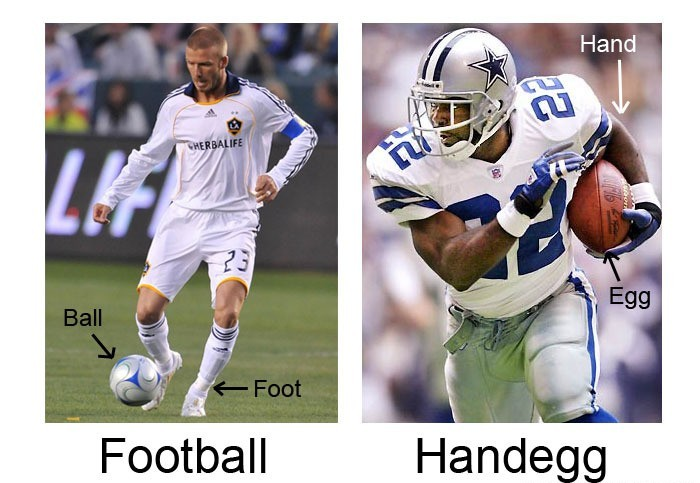 football v handegg
