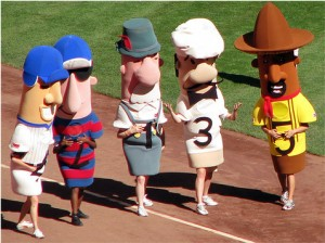 racing sausages 300x224