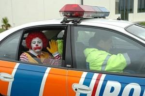 ronald mcdonald is arrested 300x198