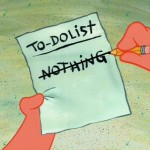 An Unemployed To Do List