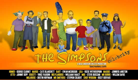 Celebrity Simpsons ALL Brad Anderson Creates FINAL Email 560x326