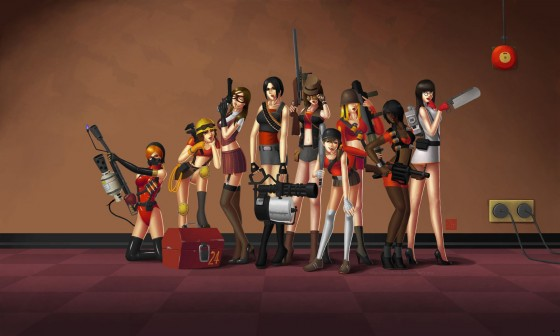 Sexy Team Fortress Girls 560x336
