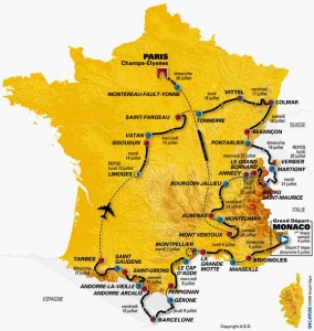 Tour de france map 284x300