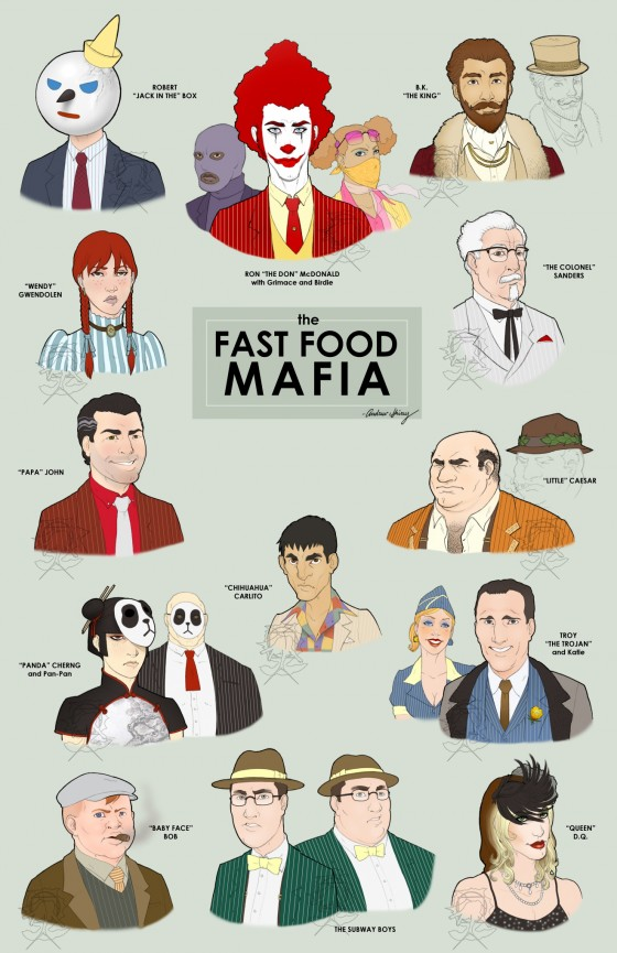 Fast Food Mafia final by silentsketcher 560x865