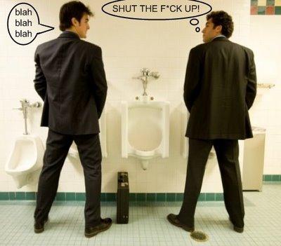 Talking at the Urinal