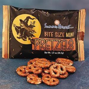 healthy halloween pretzels
