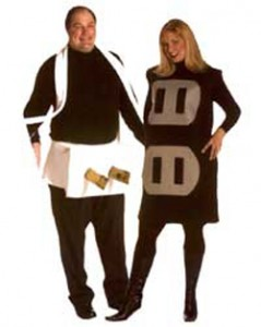 plus size plug and socket costume 239x300