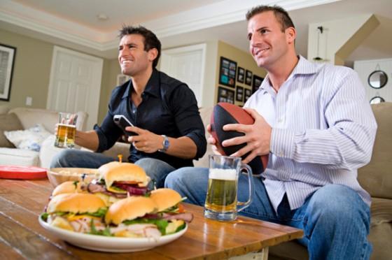 men watching tv football sandwiches 560x372