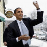 Obama's Snowball Fight