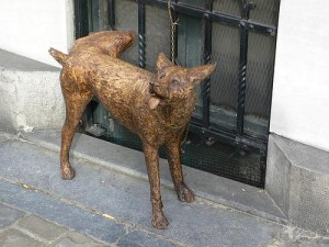 fake peeing dog 300x225