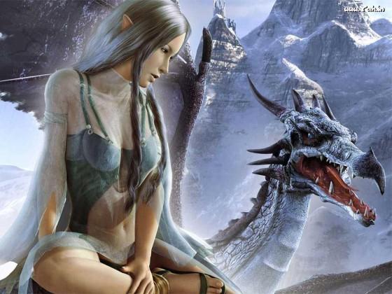 fantasy elfe and dragon 355 560x420