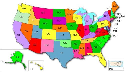 usa pr map