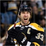Zdeno Chara Has a Laugh at Flying Mike Fisher