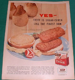 Treet Luncheon Meat Ad 1957