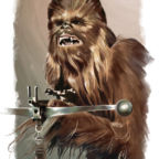 chewbacca star wars fan art tony santiago 144x144