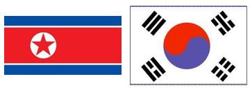 north south korea flag
