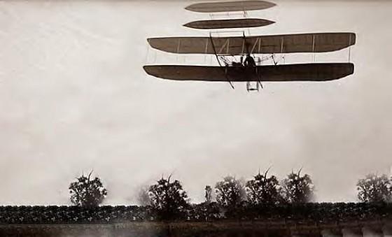 1905 Wright Bros flight 46. Last flight of 1905 Dayton Ohio 560x339