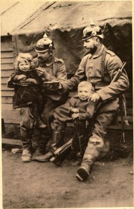German soldiers with Belgian orphans 192x300