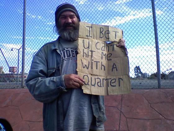 Homeless Guy 560x420