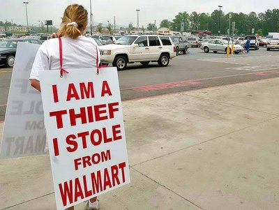 i am a thief i stole from walmart shoplifting sign1