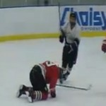 Amateur Hockey Player Uses Stick as a Weapon