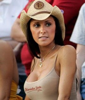 Jenn Sterger closeup in hat