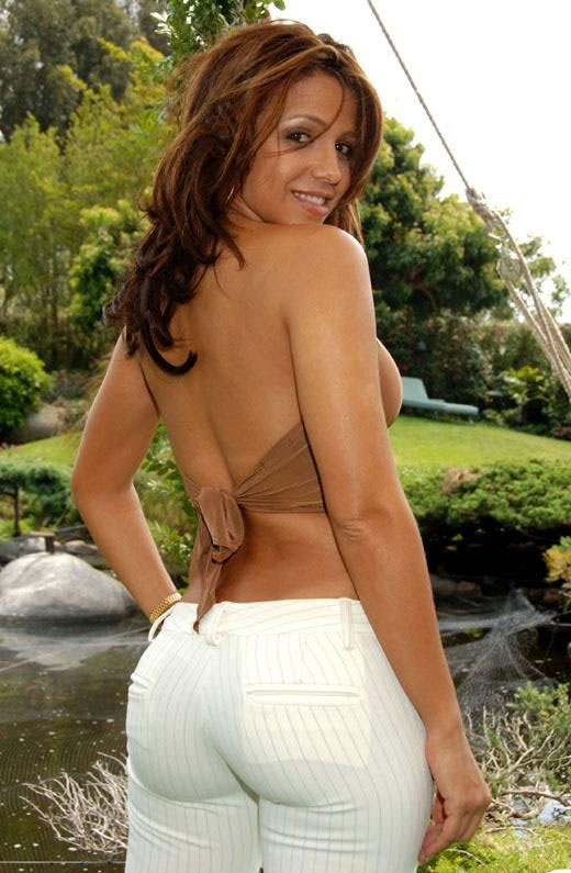 VIDA GUERRA TIGHT WHITE PANTS