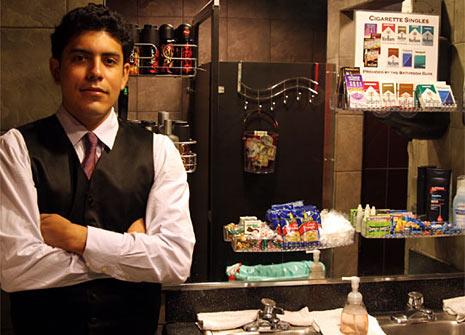 bathroom attendant