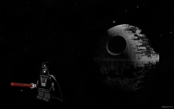 darth vader and death star from lego 560x350