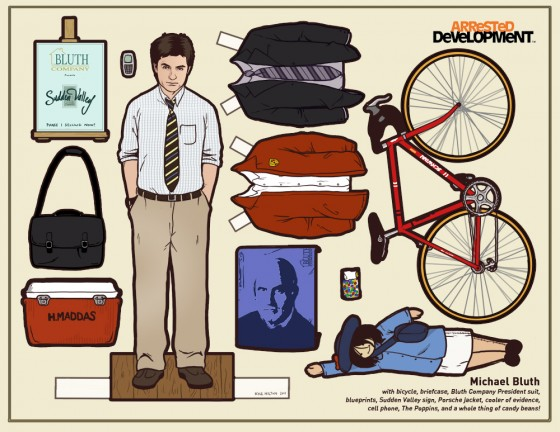 Michael Bluth Paper Doll 560x432