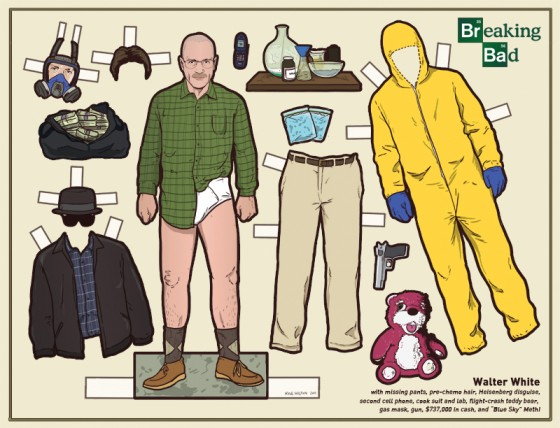 Walter White Paper Doll 560x428