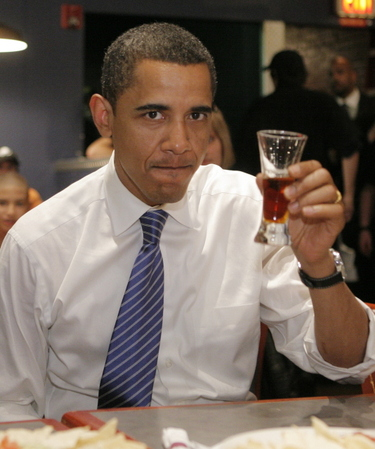 barack with a beer