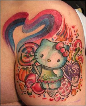 Hello Kitty Ass Tattoo