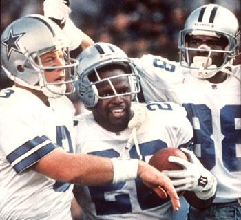 Troy Aikman Emmitt Smith and Michael Irvin Champion Hall of Famers