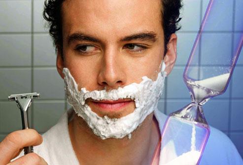 getty rf photo of man shaving no rush