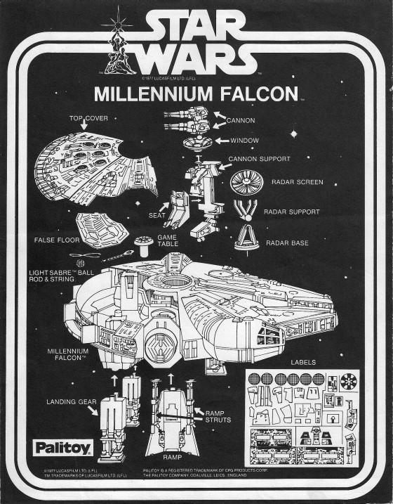 vintage star wars millennium falcon instructions 1 560x717