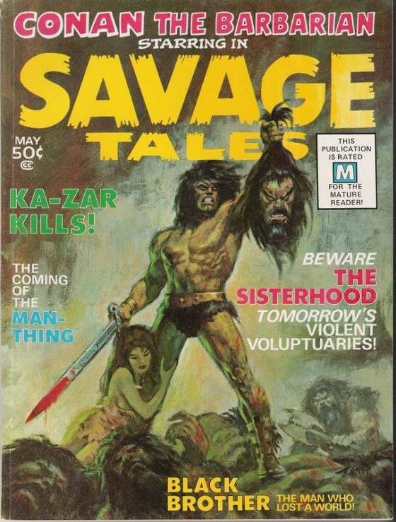 Savage Tales 1 MM 1971 560x738