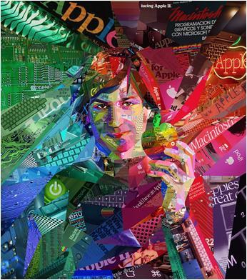 Steve Jobs Collage Art