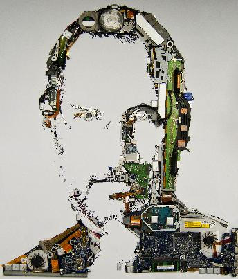 Steve Jobs Portrait Mac Parts