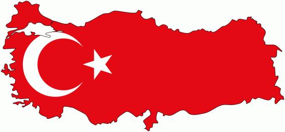 Turkey flag map 560x260
