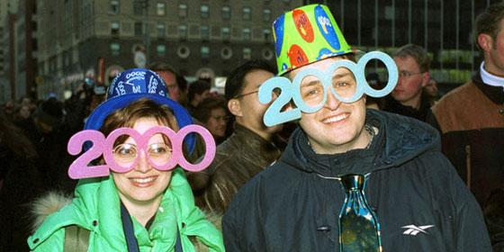 New Years Glasses 2000