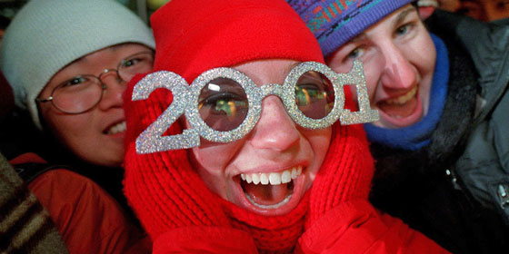 New Years Glasses 2001