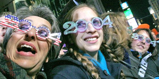 New Years Glasses 2004