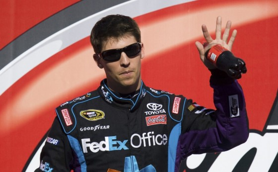64442 denny hamlin waves to fans prior to the coca cola 600 nascar race in c 560x346