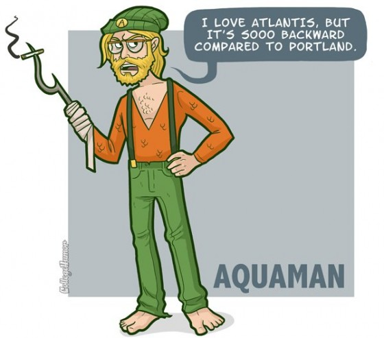 Aquaman Hipster 560x493