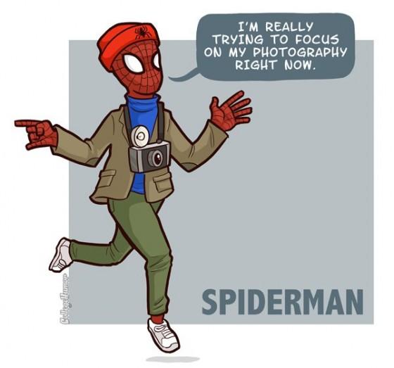 Spider Man Hipster 560x523